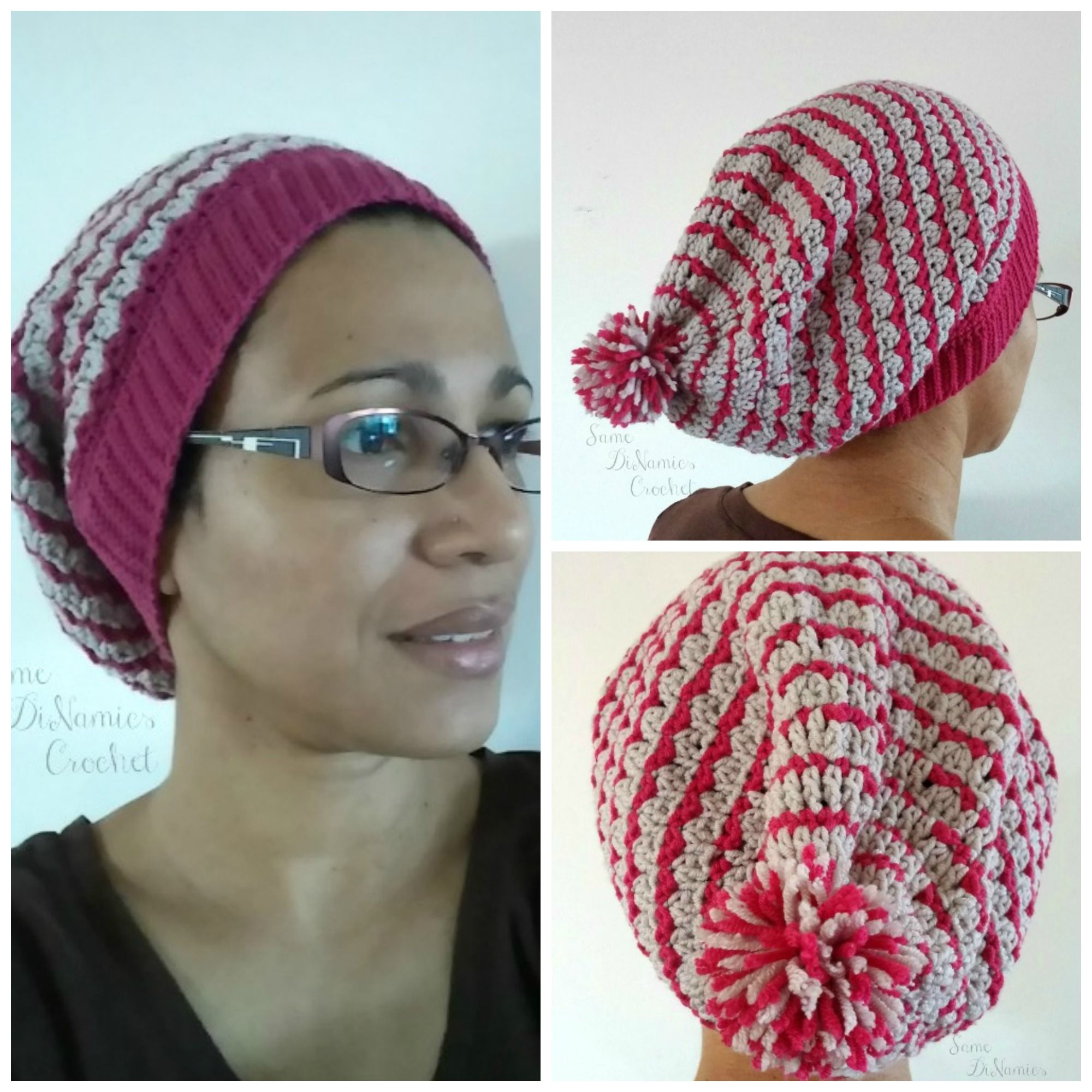 9e29cd2e2ec Bon Bon Kisses Slouchy Hat free crochet pattern The Bon Bon Kisses Slouchy  Hat is soft and will keep your head warm. It fits snug and comfortable on  your ...