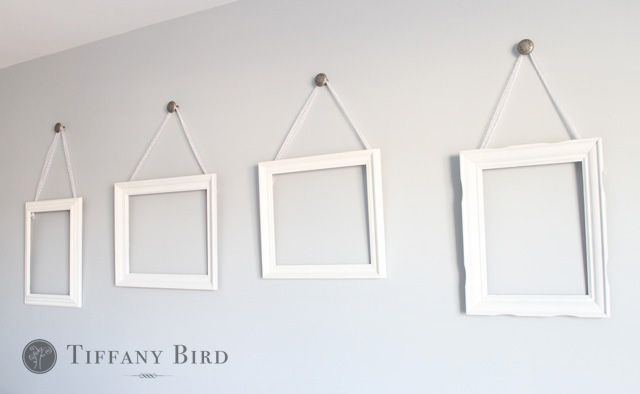 Simply Modern Mom » DIY Ribbon Hanging Wall Frames Tutorial