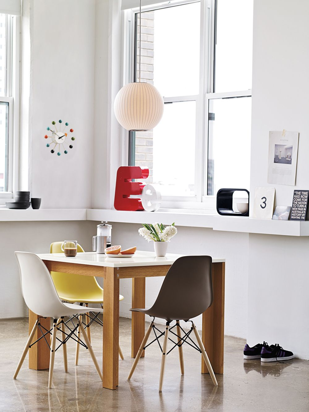 Eames® Molded Plastic Wire-Base Side Chair (DSR) | Side chair ...