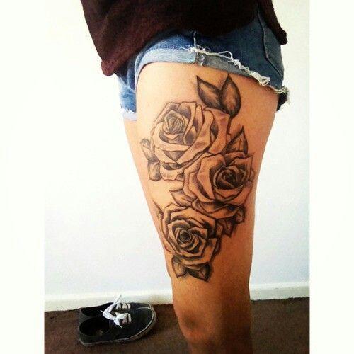 Black And White Roses Tattoo S Pinterest White Roses Tattoo
