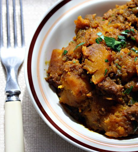 Let your slow cooker do the work to make this Indian butternut squash.