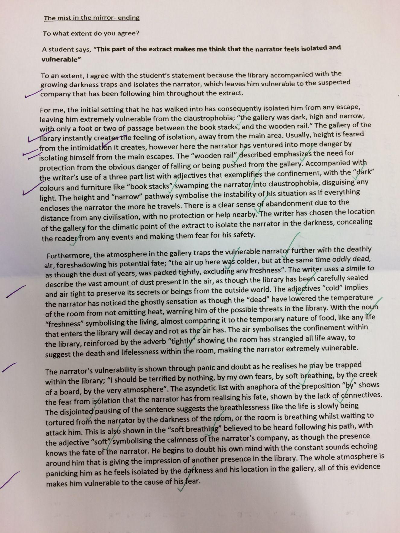 Ap english graded essays