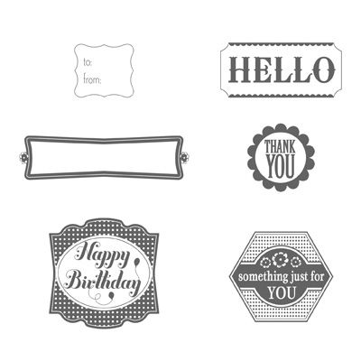 This Stamp Set Is Label Something By Stampin Up If You Need A