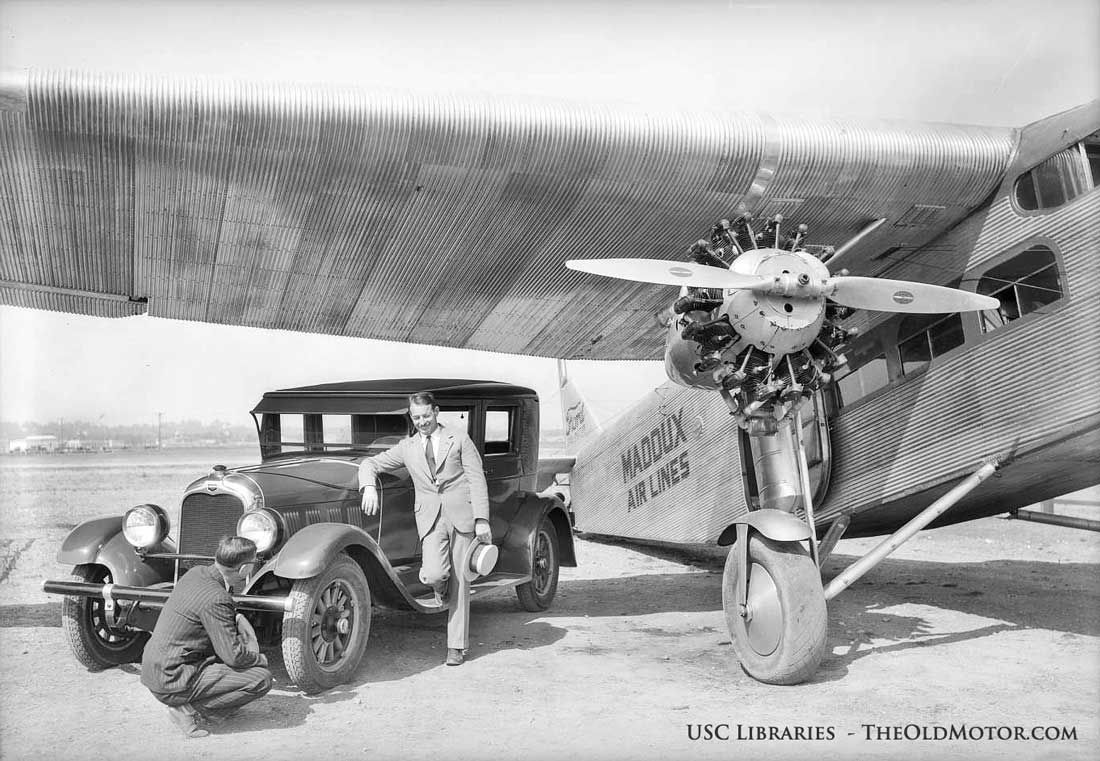 An Auburn and A Ford TriMotor Help to Promote India Tires