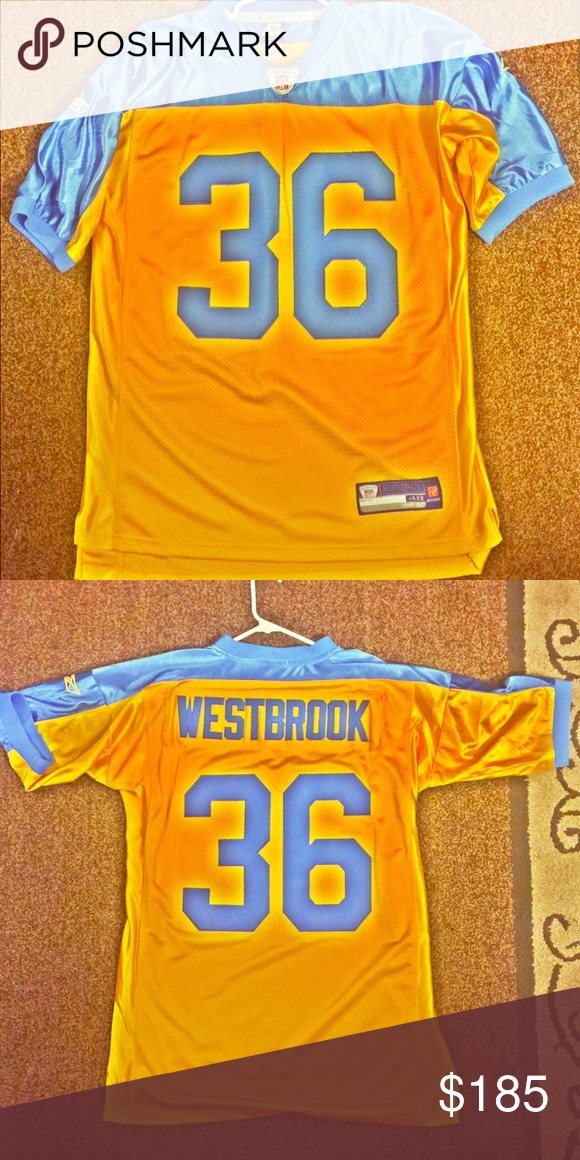 ecf8a75f179 (RARE) Throwback Brian WestBrook jersey Brand new mint condition NFL Reebok  Philadelphia Eagles Very rare and popular alternate blue and yellow future  hall ...