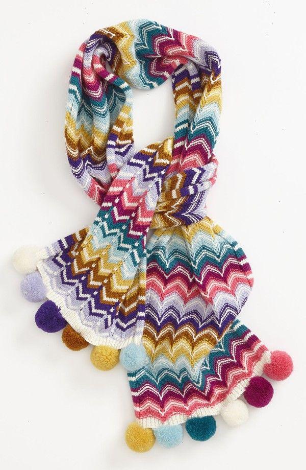missoni pom pom scarf