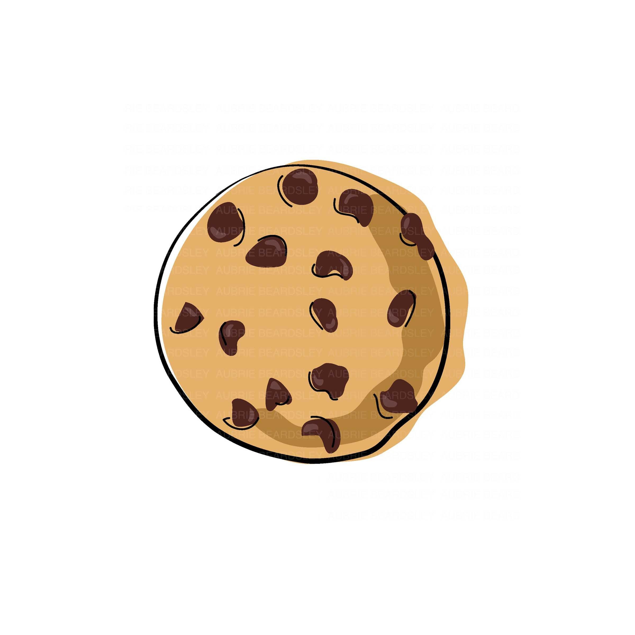 New Item From My Etsy Shop Png Jpeg Svg Instant Digital Download Chocolate Chip Cookie Great For Diy Projec Cookie Clipart Cookies Branding Cookie Drawing