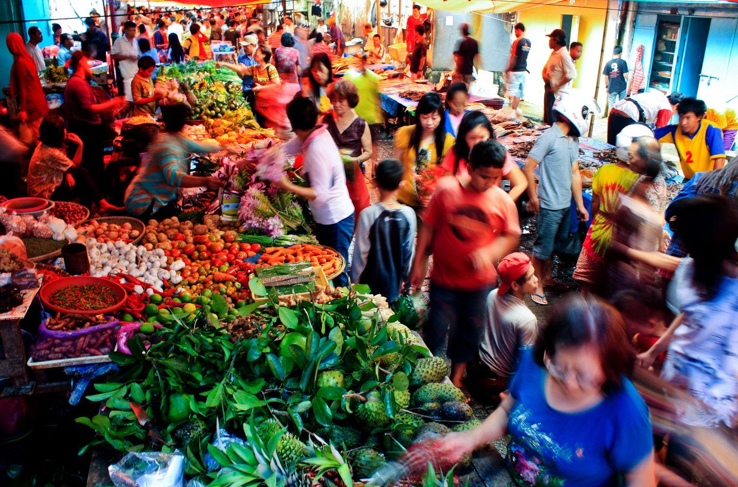 Keramaian pasar pecinan(Bacan) makassar menjelang Imlek 2563 | Indonesië