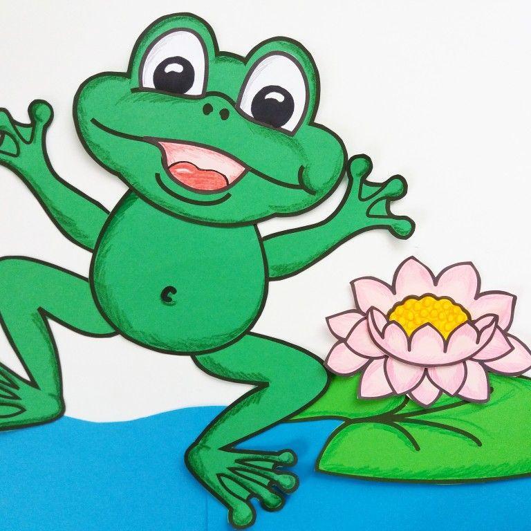 Frosch Mit Seerose Basteln Wasser Bastelvorlage Teich Unterrichtsmaterial In Den Fachern Fachubergreifendes Kunst Bastelvorlagen Basteln Vorlagen