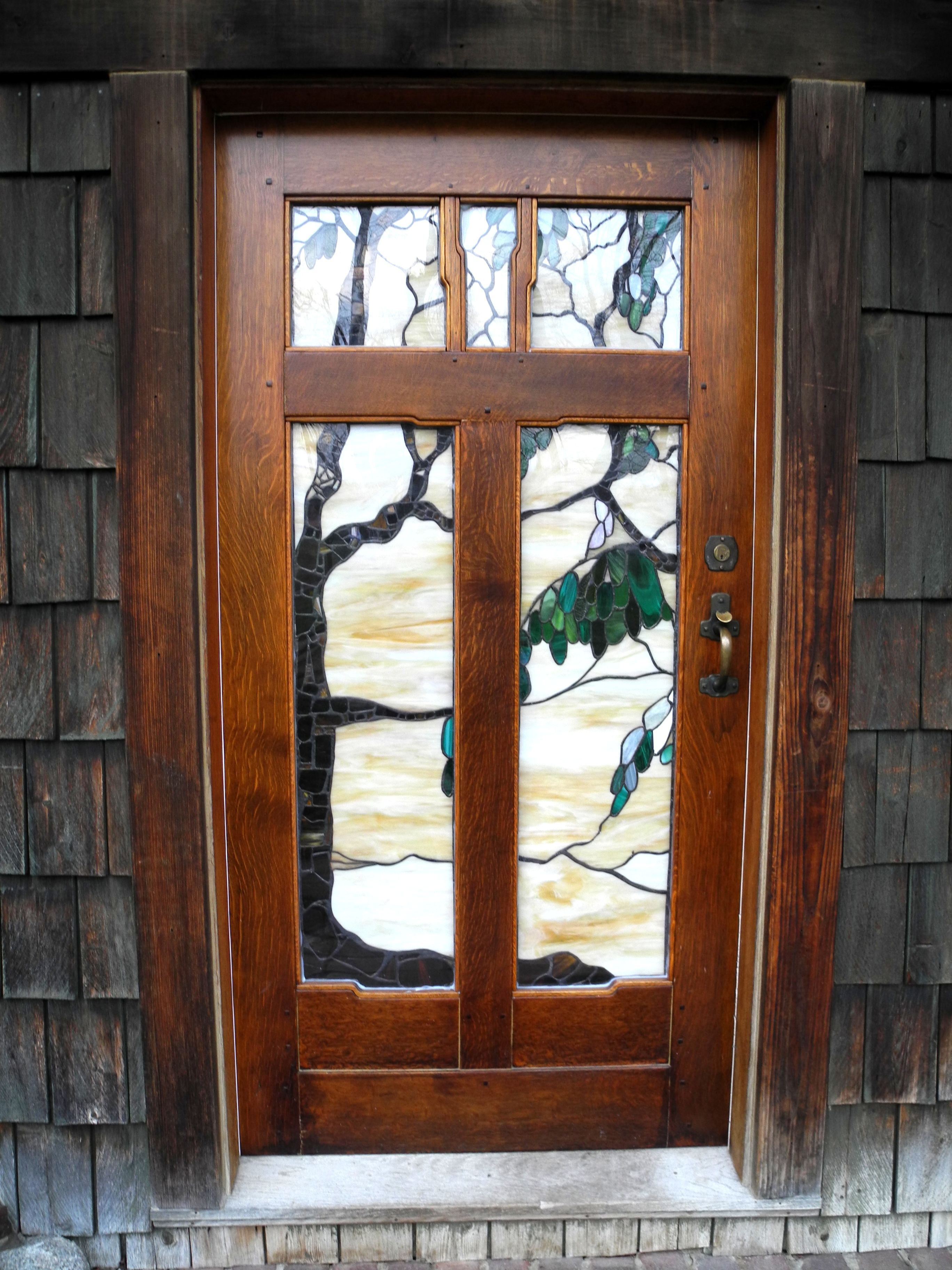Arts and Crafts doors and more Stained glass Pinterest