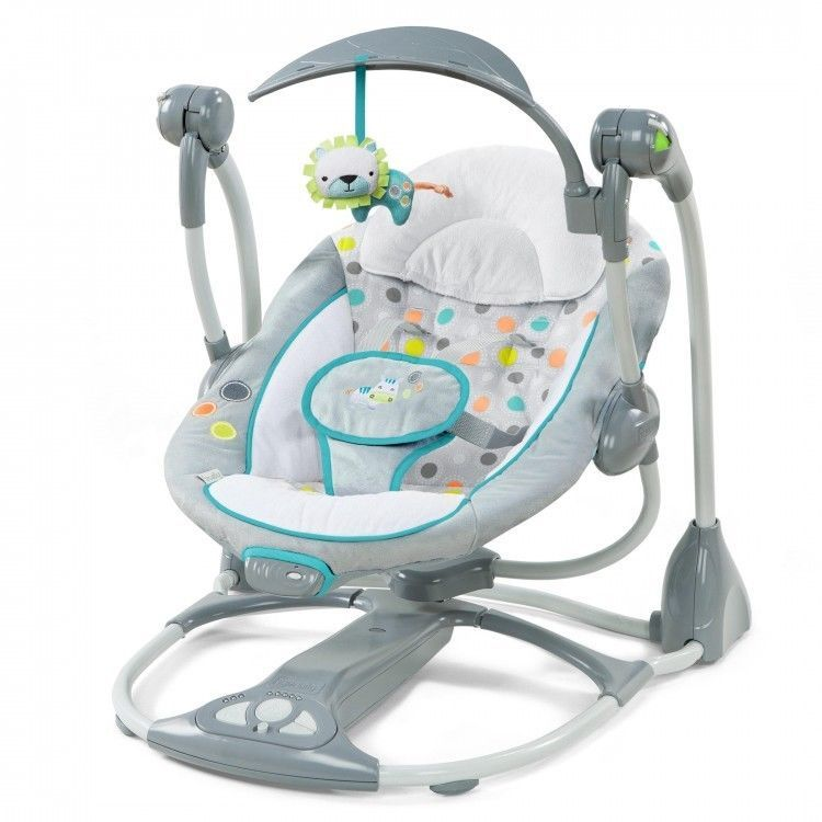 7695292fa99c Details about Portable Baby Swing Converts To Seat Newborn Infant ...