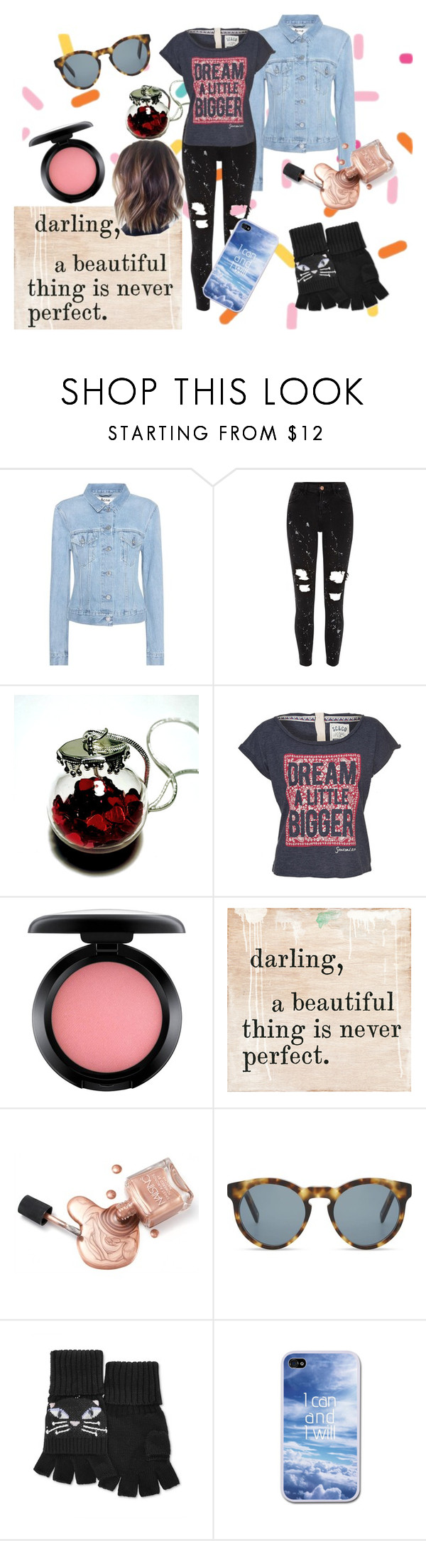 """""""We can do Anything"""" by fionaandroid ❤ liked on Polyvore featuring Acne Studios, River Island, MAC Cosmetics, DICK MOBY, Kate Spade and casual"""