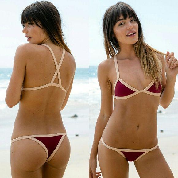 New posh pua kainalu rouge bare bikini tri top red NO TRADE
