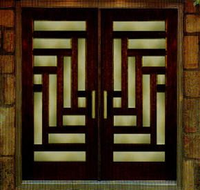 Designer Front Doors contemporary front door with stained glass window pathway frank lumber the door store custom Front Doors Contemporary Welcome Home Guests With Modern Front