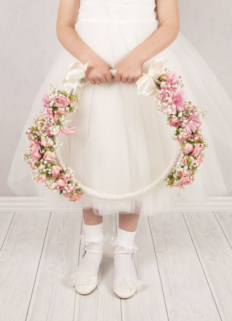 Vintage Affair Flower Girl Hoop Wedding Flower Girl