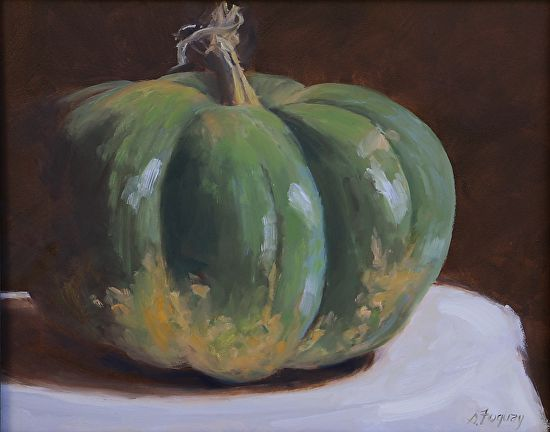 Growing green by Susan Fuquay Oil ~ 8 x 10