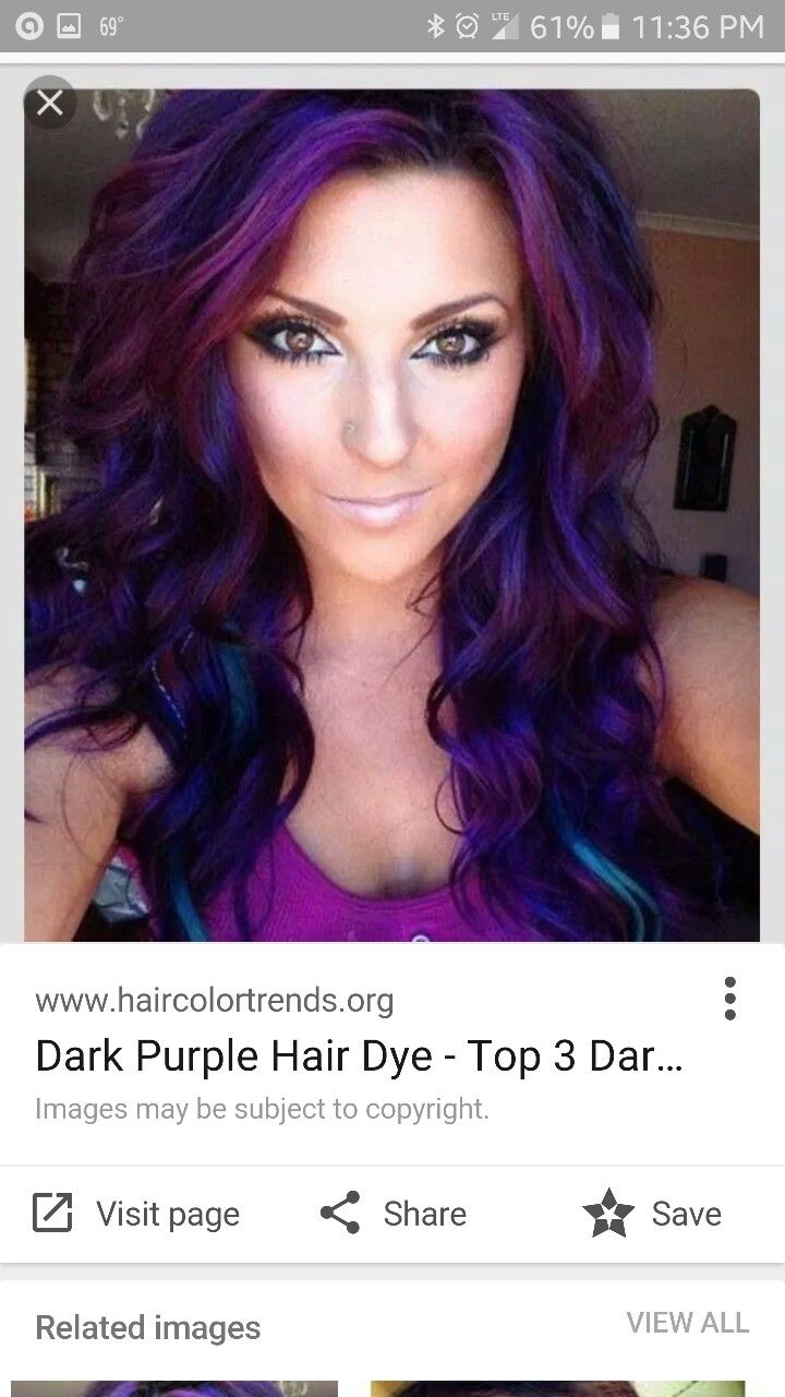 Purple Midnight Hair Thinking This Might Be Pretty With Raspberry