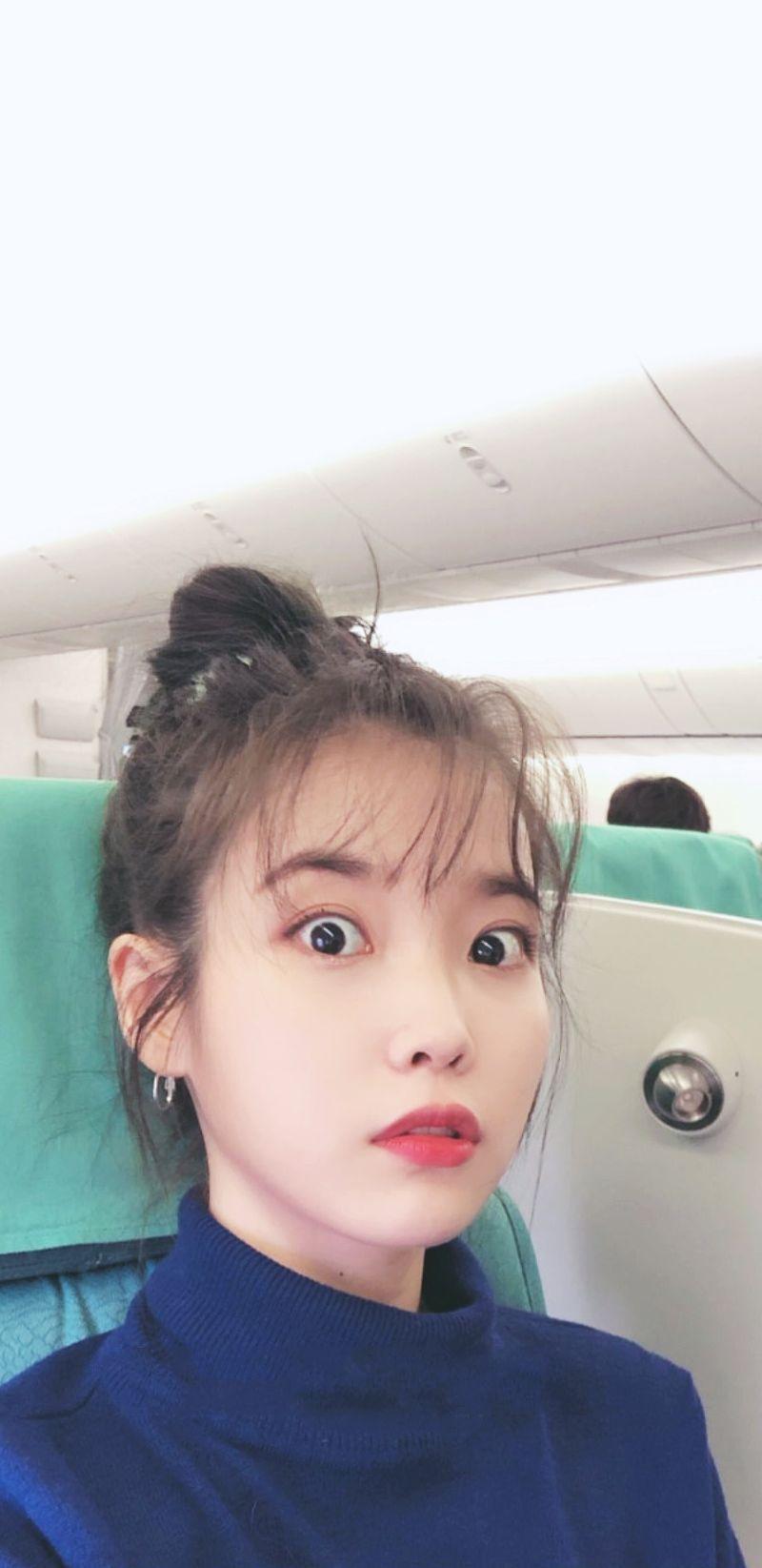Iu Wallpapers Lockscreen In 2020 Iu Hair Beautiful Girl Face Kpop Girls