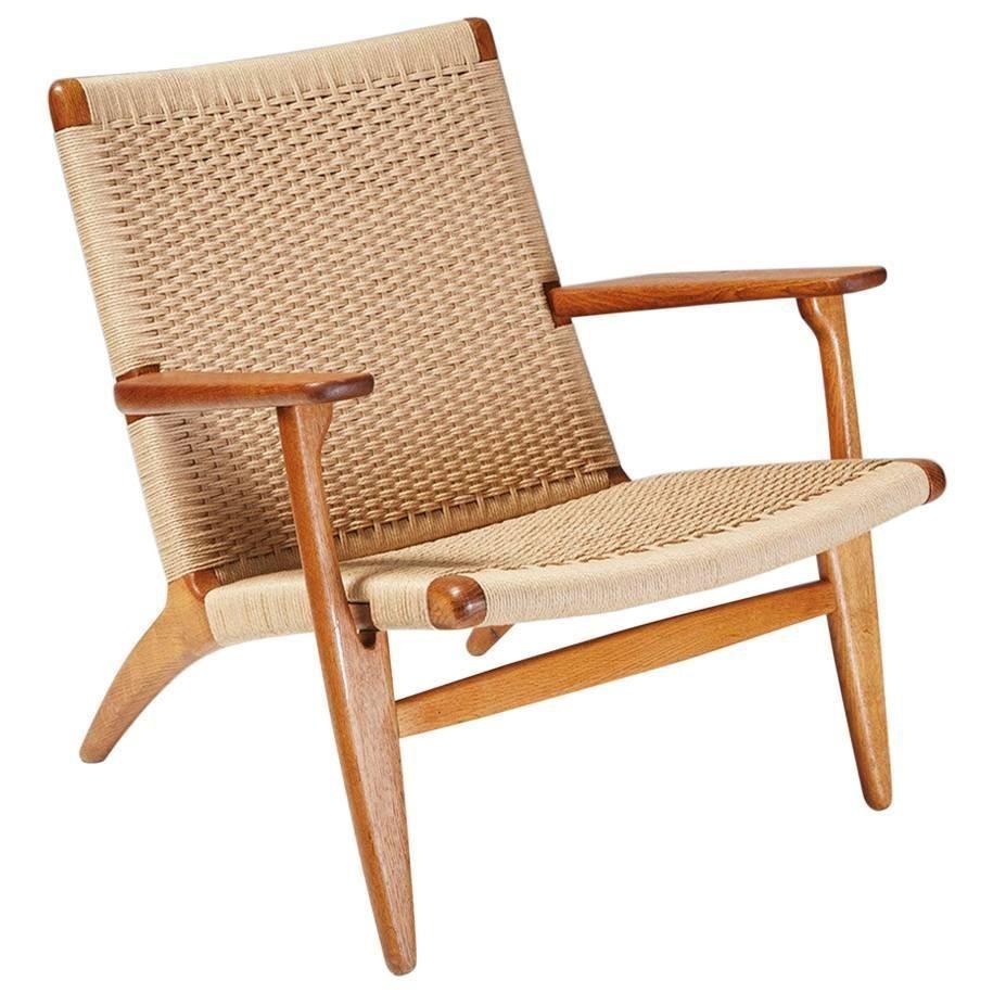 Hans J. Wegner CH 25 Oak Lounge Chair, 1950   Living