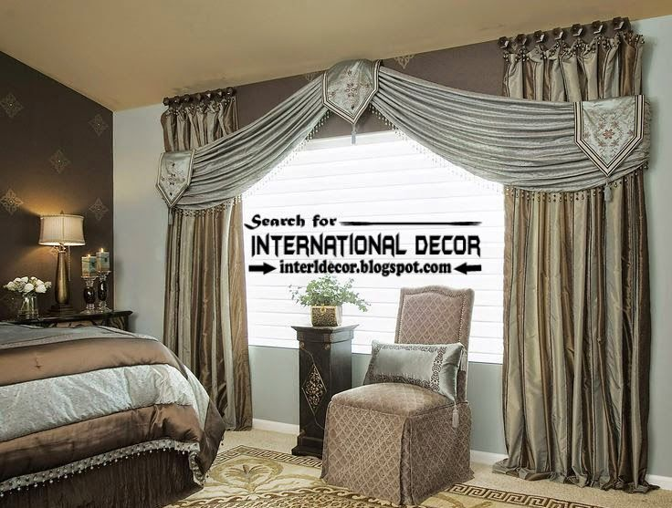 Contemporary Bedroom Curtain Designs Ideas Scarf Curtains Style, Stylish  Bedroom Curtains From Silk Fabric, This Window Treatments Or Curtain Hanged  By ...
