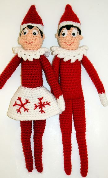 Knitting Pattern For Elf On The Shelf : Make Your Own: FREE Elf on the Shelf Doll Crochet Pattern Knitting and Croc...