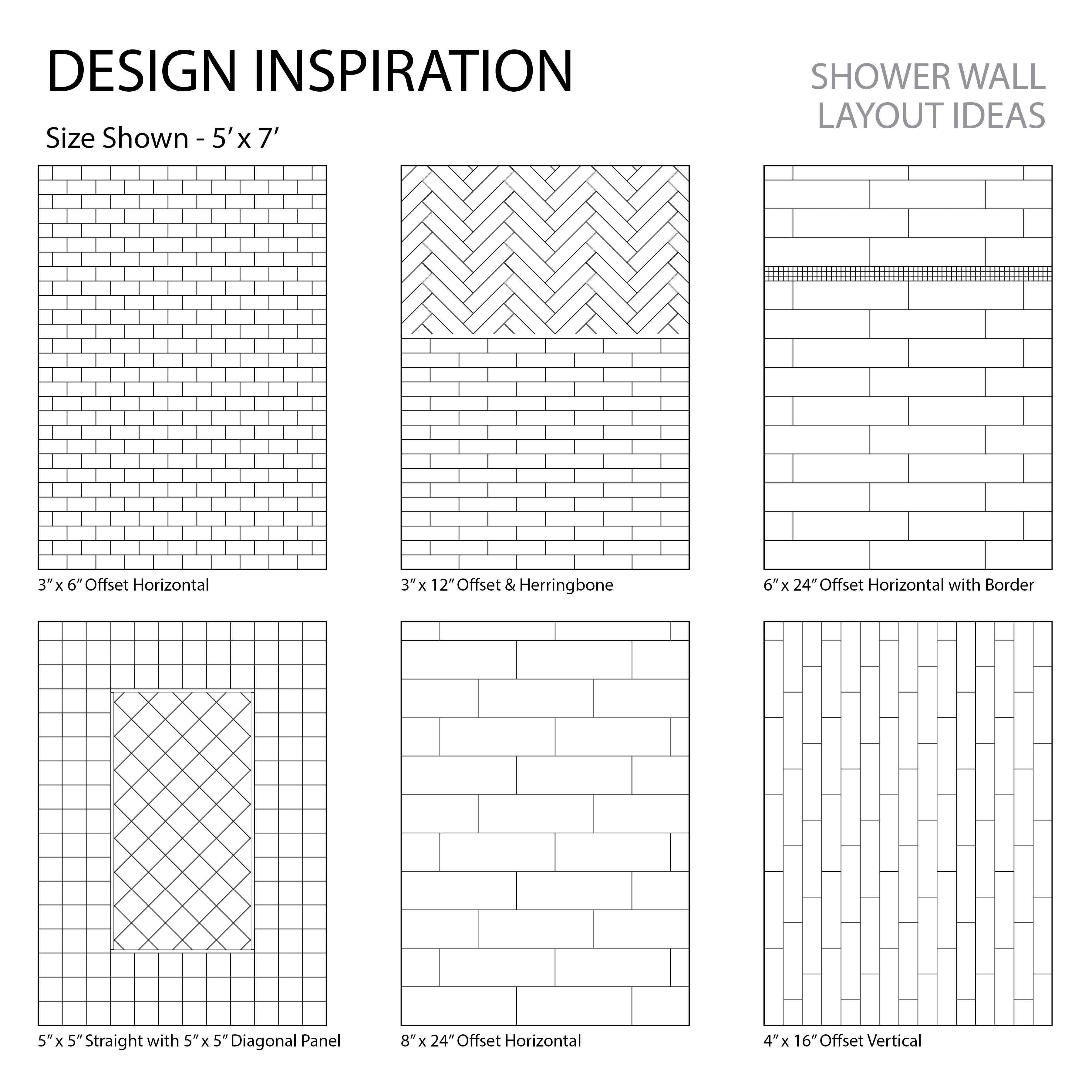 Shower Layout Inspiration Tile Layout Layout Subway Tile Showers