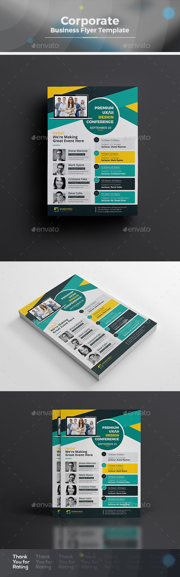 EventConference Flyer Template  Ai Illustrator Flyer Template