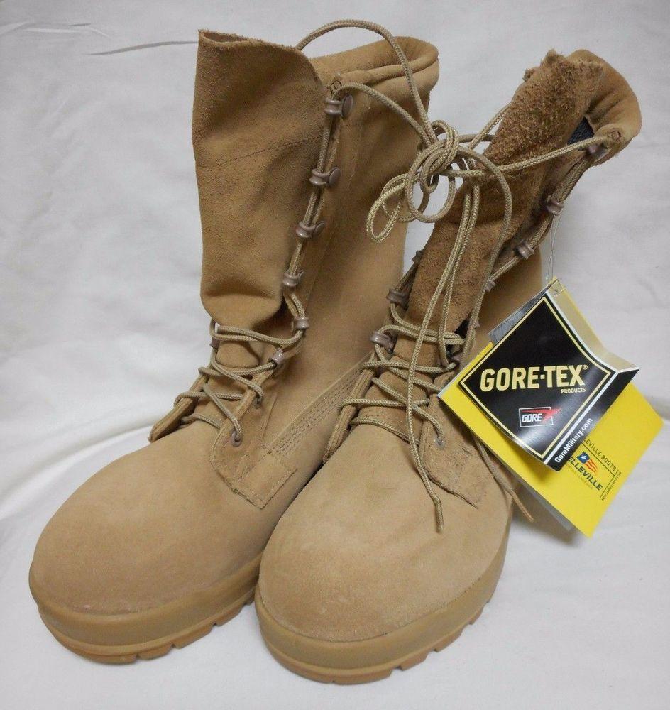 New Thorogood Military surplus Combat Boots Desert Tan Steel Toe Hot Weather