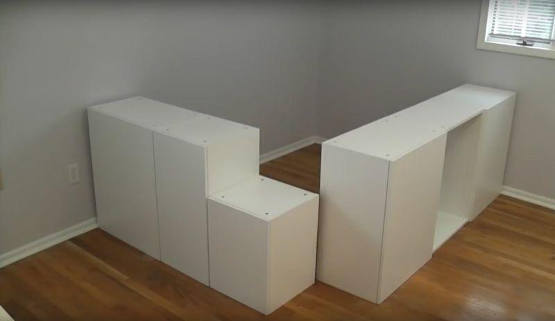 Etape Par Etape Construisez Ce Super Lit Plate Forme Avec Rangements Construire Un Lit Lit Rangement Et Meuble Rangement Ikea