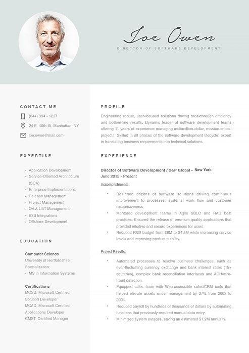 Modern Resume Template 120070  Resume / Curriculum Vitae