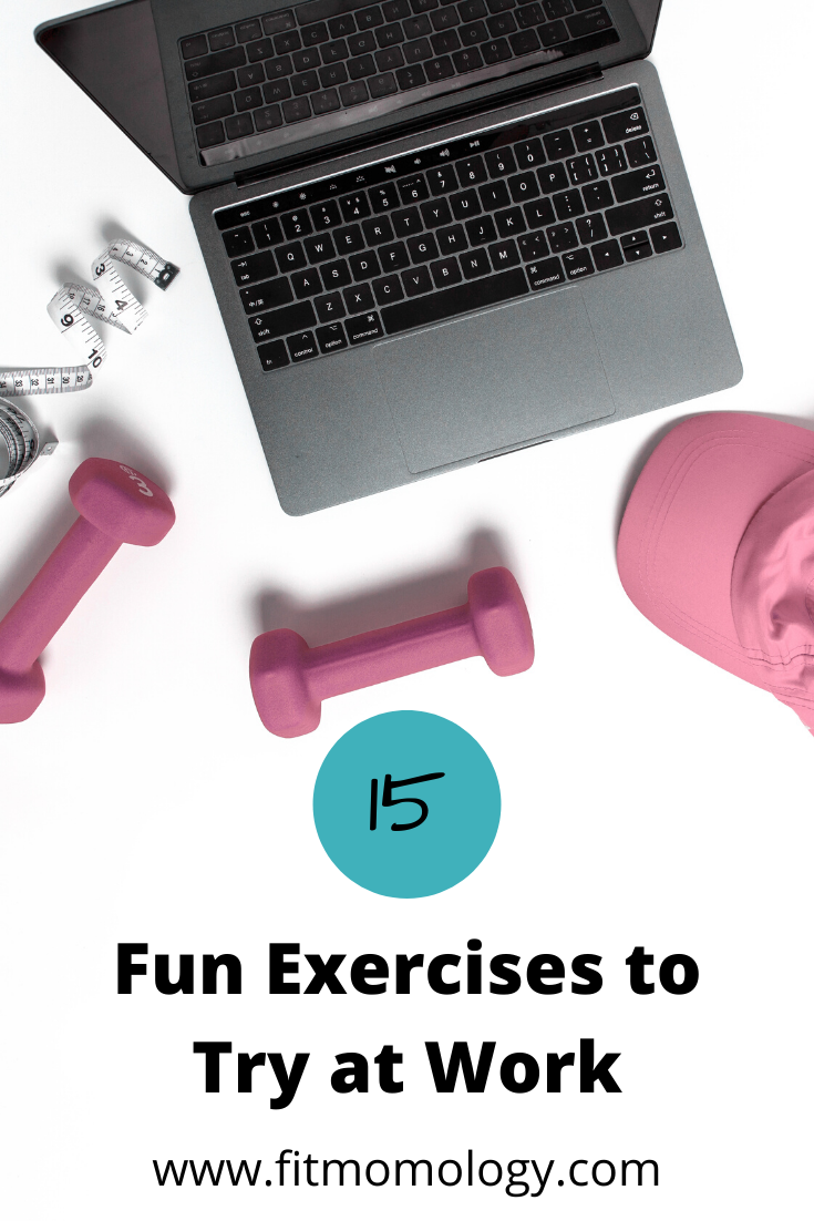 Need to find creative ways to workout? Look no further! Check out 15 fun exercises to try at work! #...