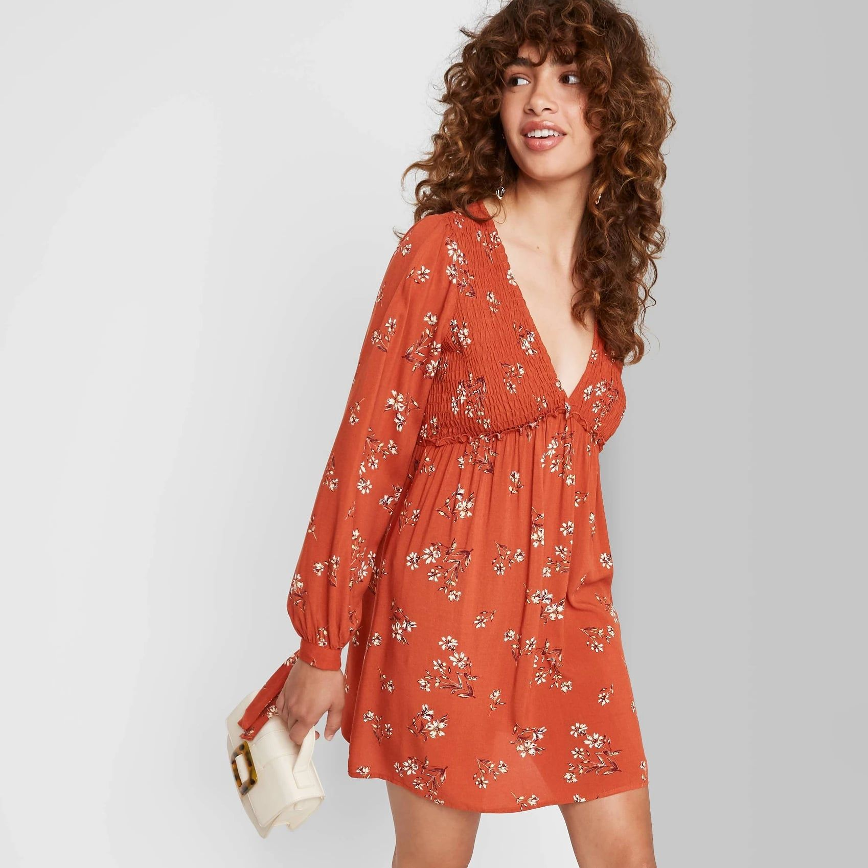 Wild Fable Long Sleeve Dress Women Long Sleeve Dress Long Sleeve Babydoll Dress Target Womens Dresses [ 1698 x 1698 Pixel ]