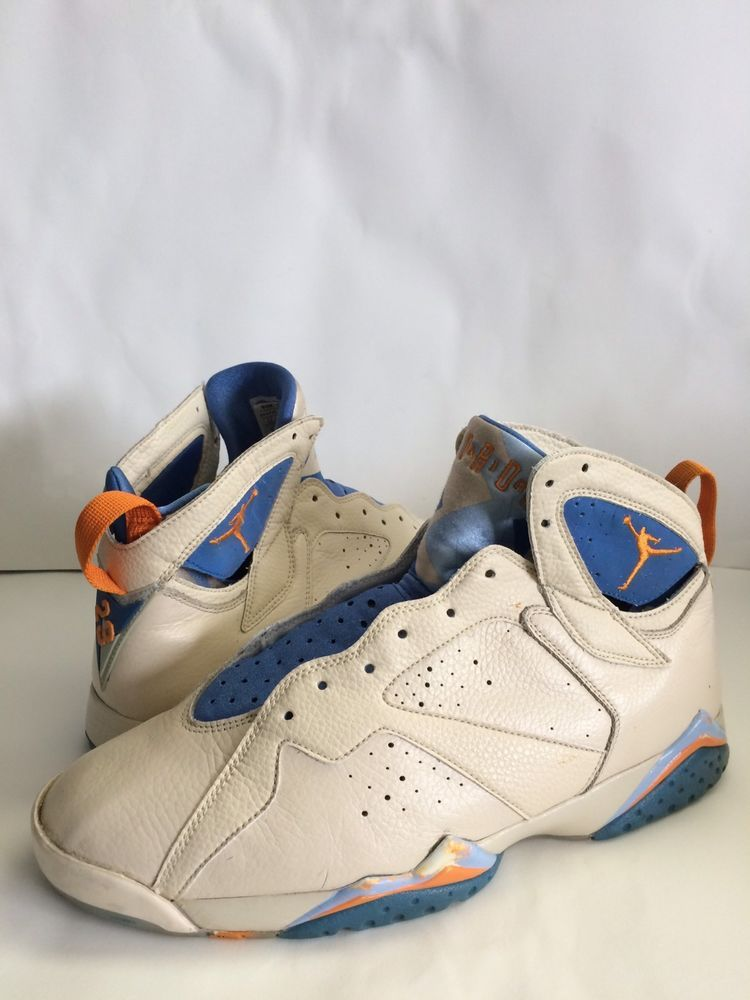 half off afa58 f54e3 Nike Air Jordan VII 7 Retro Pearl White Ceramic-Pacific Blue ...