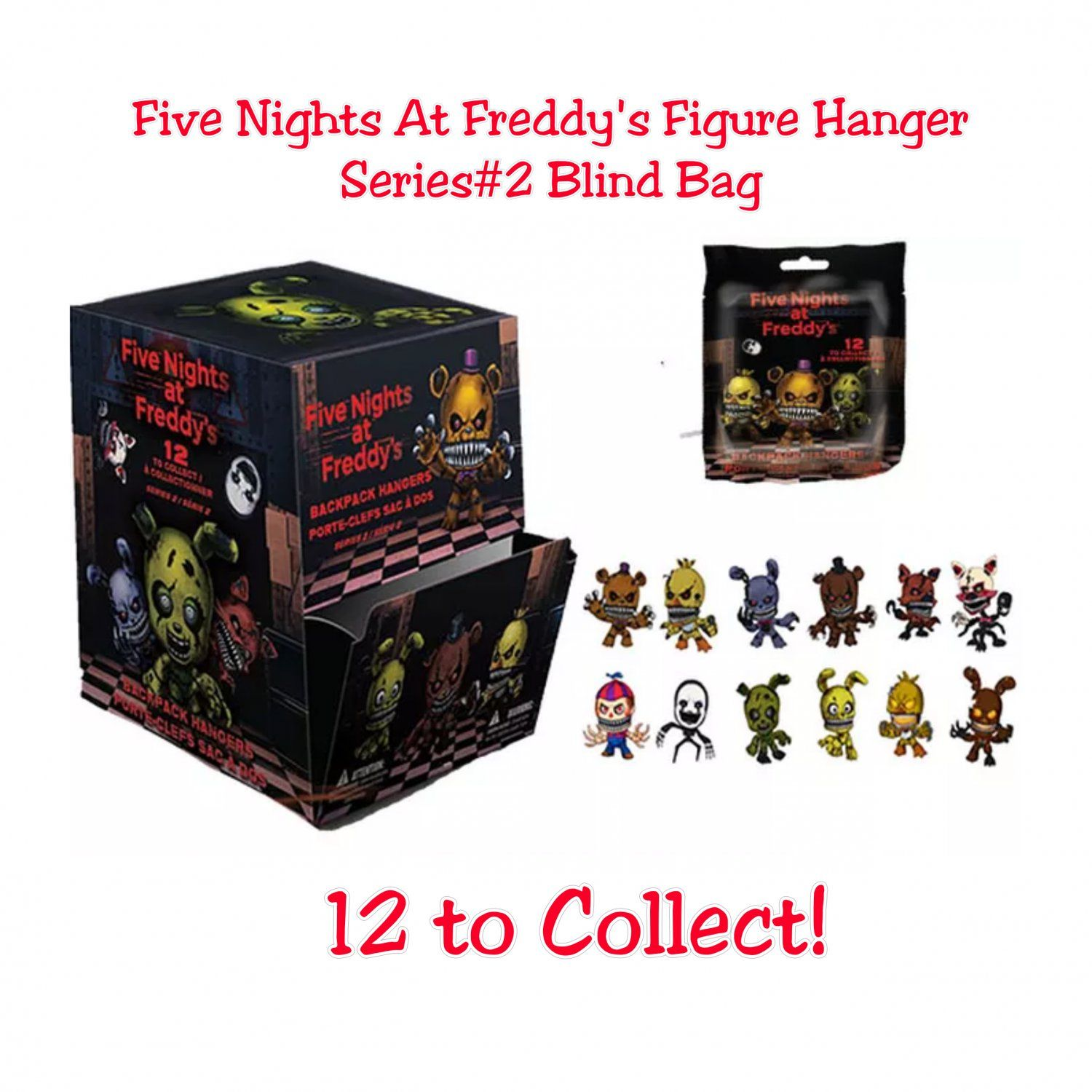 More five nights at freddy s construction sets coming soon - Five Nights At Freddy S Fnaf Series 2 Collector Backpack Figure Hangers Blind Bags 9