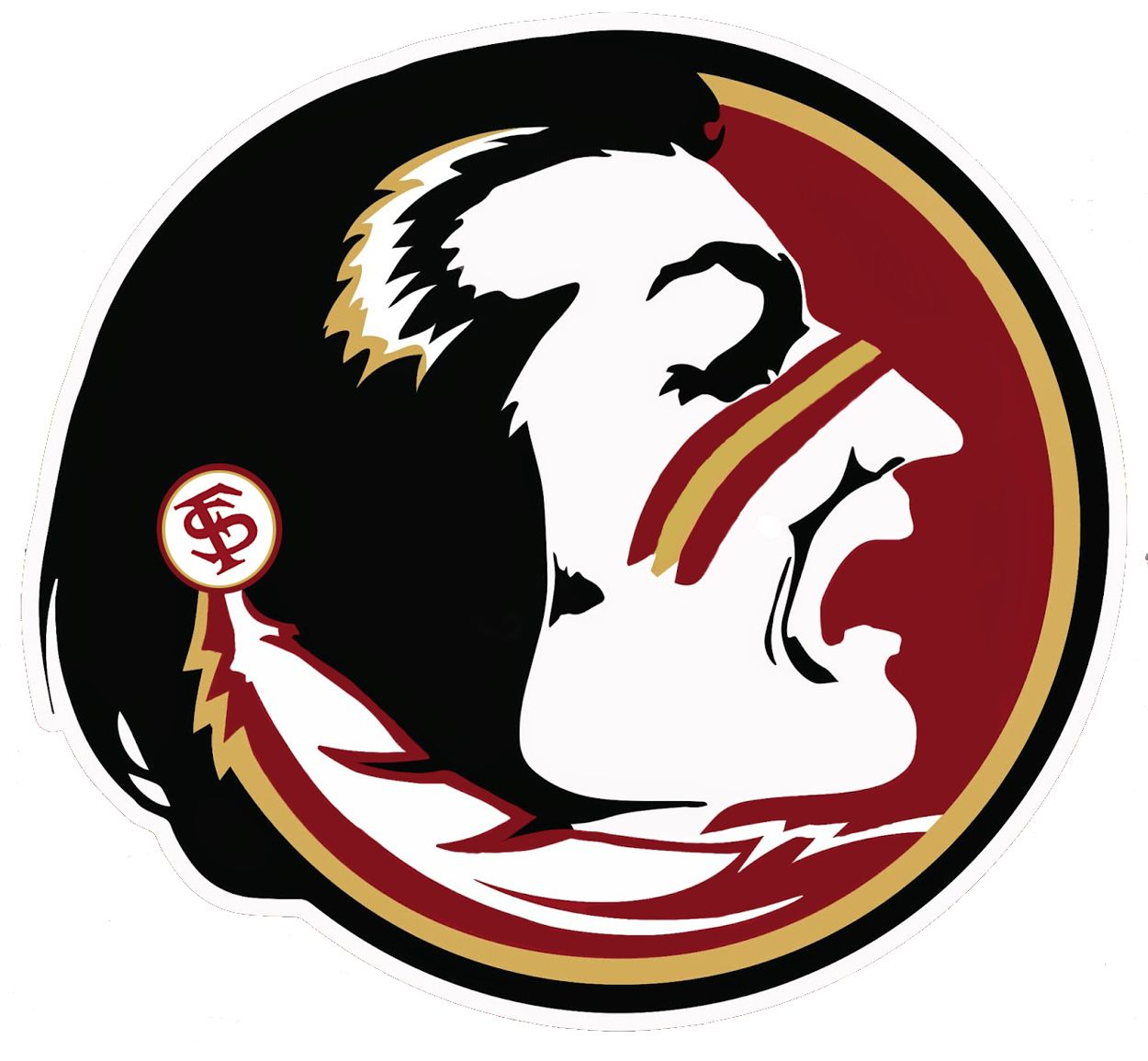 My version of the florida state seminole head which incorporates explore fsu logo florida state seminoles and more voltagebd Choice Image