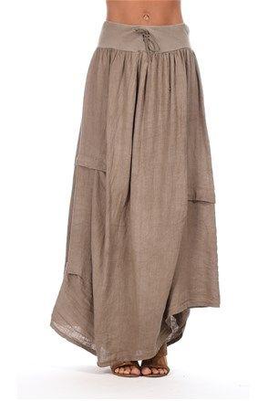 Dámská sukně, šedohnědá - Couleur Lin | Stilago | My style | Pinterest