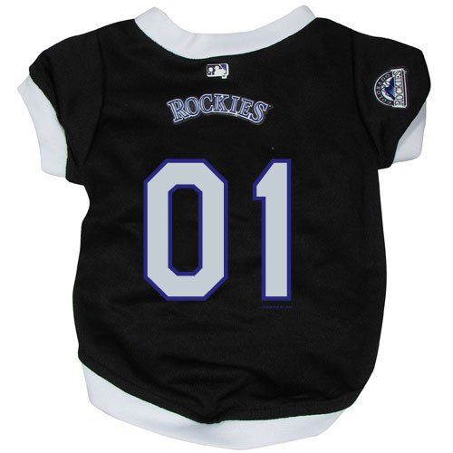 timeless design 1d43e 351bc MLB Colorado Rockies Black Mesh Pet Jersey *** Check out ...