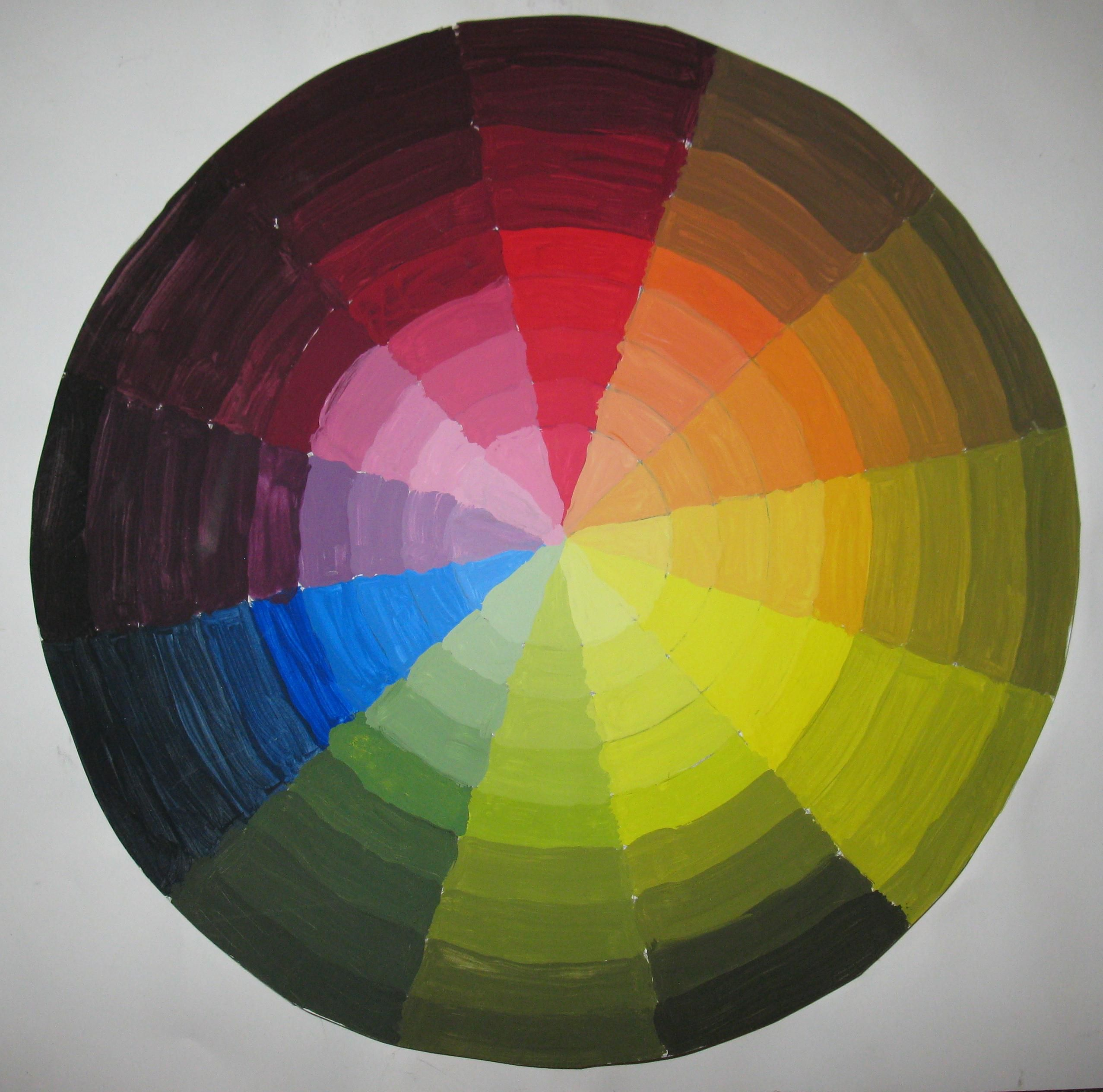 Colour Wheel Tint And Shade