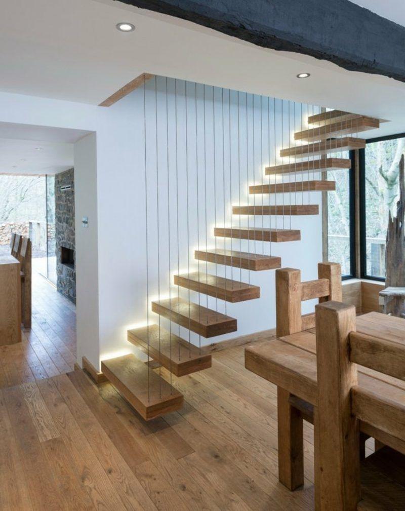 Freitragende Treppe 40 Moderne Designideen Beleuchtung Granit Gelander Innendesign Weihnac Treppenbeleuchtung Treppenbeleuchtung Innen Schwebende Treppe