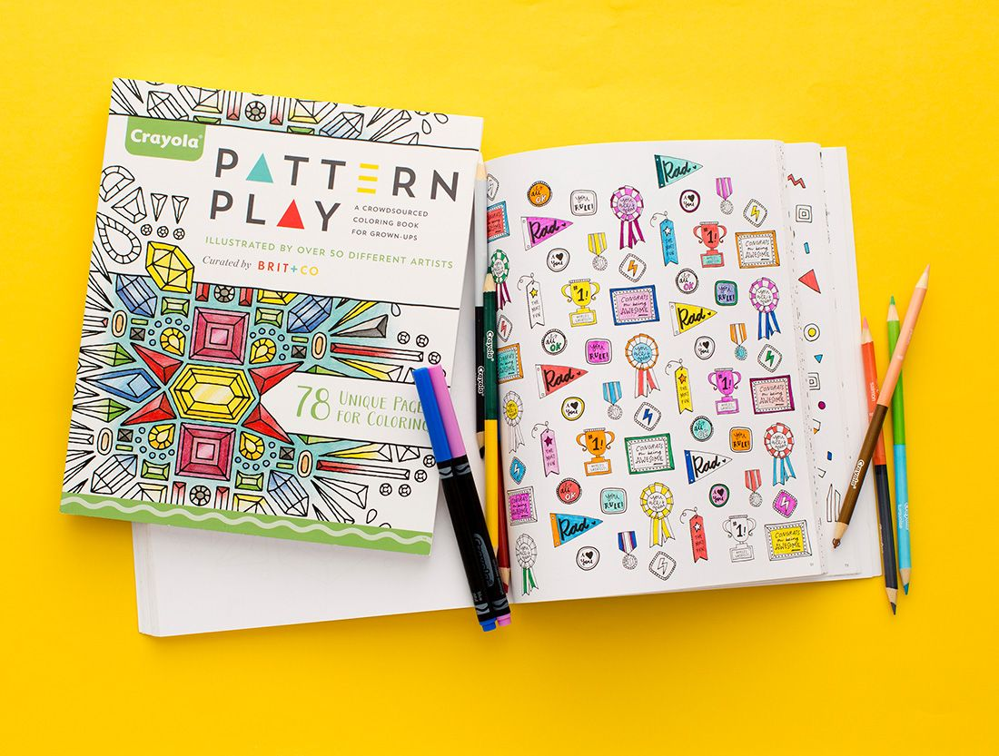 Grab your colored pencils + markers and get busy with this coloring book for grown-ups.