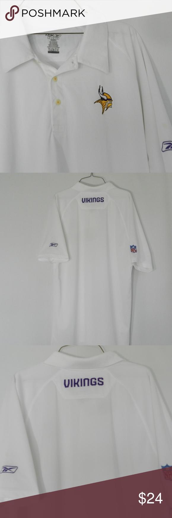 Nfl Minnesota Vikings Mens Polo Shirt L G My Posh Closet Closet