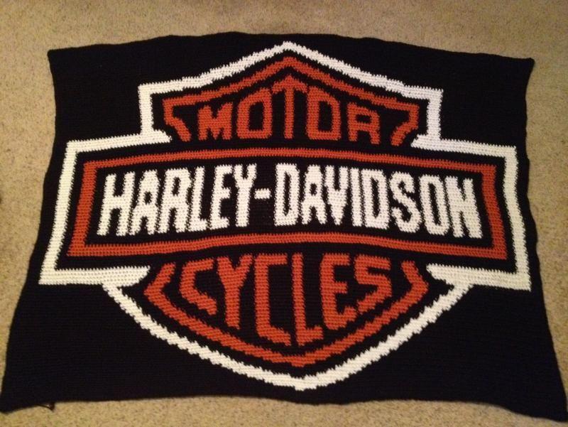 Harley Davidson Patterns Free Harley Davidson Logo Blanket