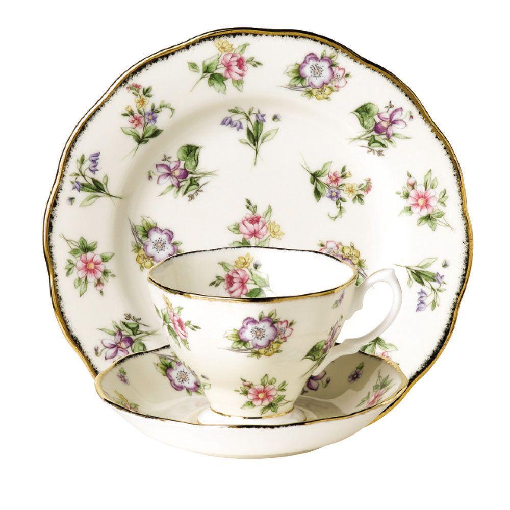 Royal Albert 100 Years Teaware Spring Meadow - Teacup Saucer Plate 1920  sc 1 st  Pinterest & Royal Albert 100 Years Teaware Spring Meadow - Teacup Saucer Plate ...