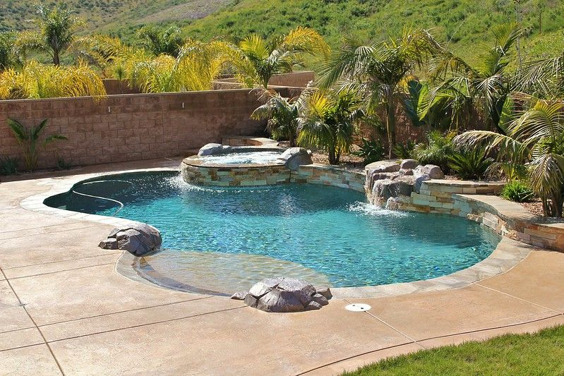 Freeform Swimming Pools | Freeform Pool Designs |Small Freeform Pools With Waterfalls