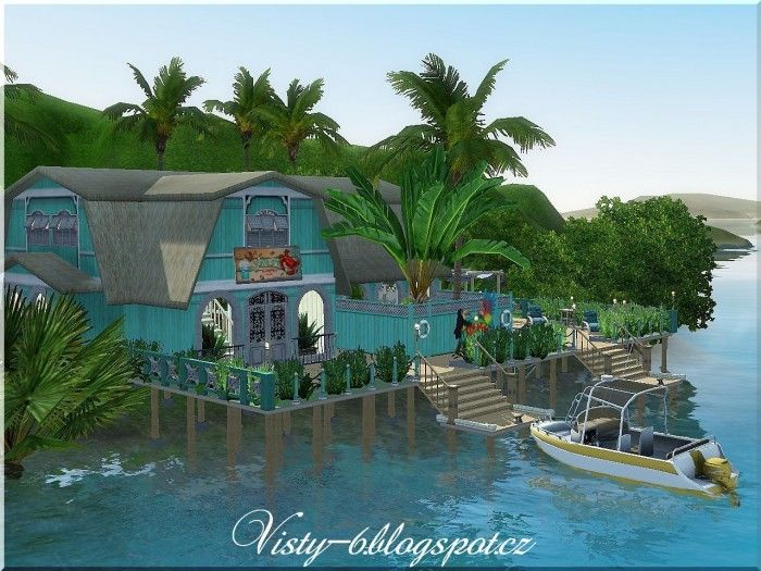 Tropical Island Bar By Visty6 Sims 3 Downloads Cc Caboodle Sims 3 Island Paradise Sims 4 Island Living House Sims 3