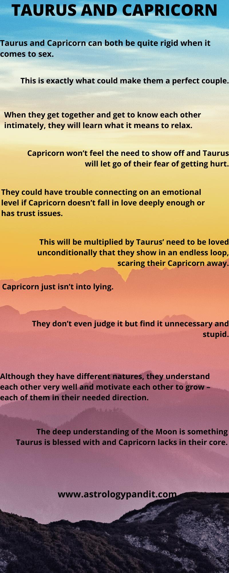 Taurus Man Capricorn Woman Compatibility In Love Online The Love Relationship Between Taurus L In 2020 Taurus Man Capricorn Woman Capricorn And Taurus Capricorn Women