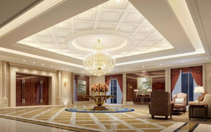 Wohnzimmer Design venizianische Spachteltechnik-Deckengestaltung - dekoration für wohnzimmer