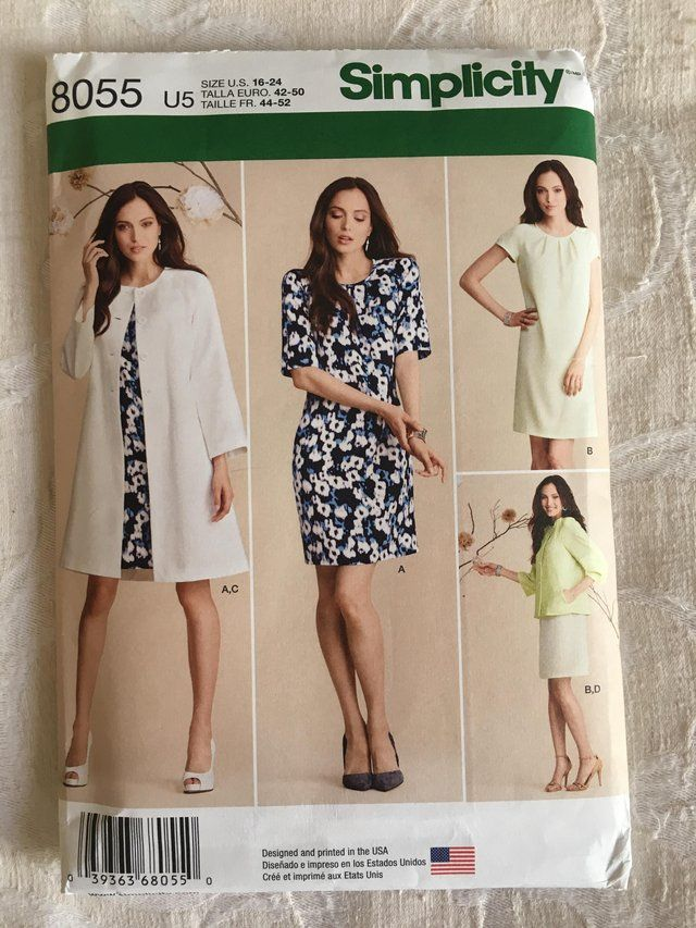 Simplicity 8055 Pattern For Sale in York, North Yorkshire
