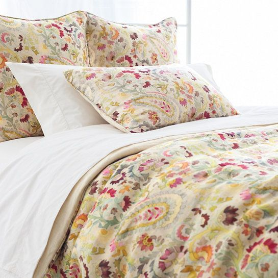 presenting paisley patterning with a twist the pine cone hill ines duvet cover offers feminine allure to beds
