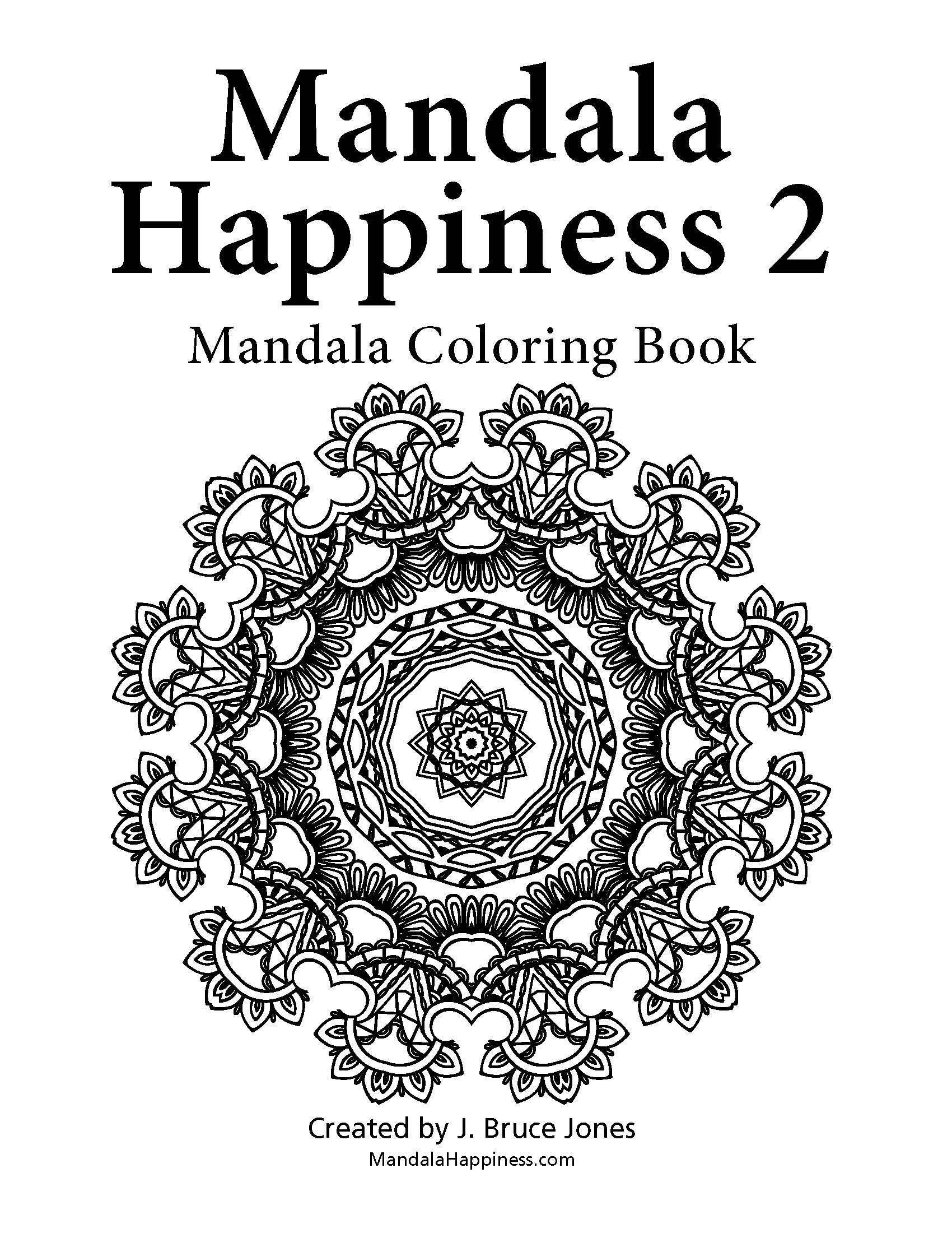 Title Page From Mandala Happiness 2 An Adult Coloring Book Great For Reducing Stress